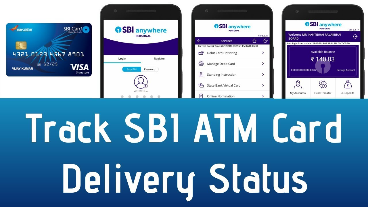 How To Track SBI ATM Card Delivery Status Online | Track SBI ATM Card Seed  Post Delivery Status