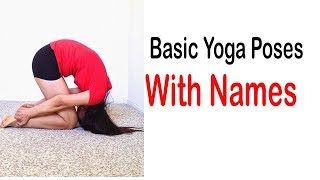 Names Of Yoga Poses   - Basic Yoga Poses with Names