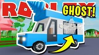 I FOUND A SECRET *GHOST* VAN IN ROBLOX ICE CREAM VAN SIMULATOR!! (It's Possessed)