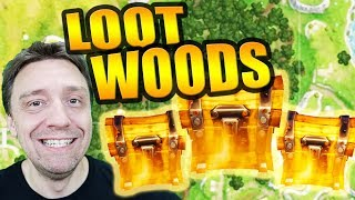 SECRET LOOT CHEST LOCATIONS AND BEST ROUTE IN WAILING WOODS! - Fortnite Battle Royale