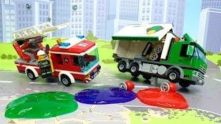 Пожарная машина у видео для детей Не гони Лего мультфильмы 2019 Lego cartoons for kids