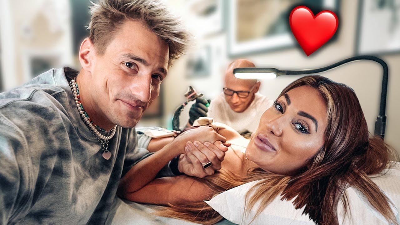 Girlfriend Gets Matching Arm Tattoo w/ Francesca Farago