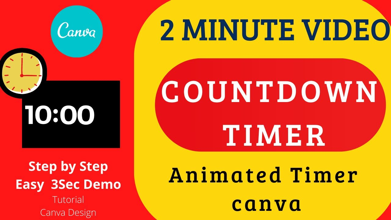 Download Countdown Timer Design with CANVA. Step by Step Simple & Easy Tutorial #COUNT  Sec Timer