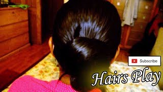 Silkyess Oily Hair & bun Play.