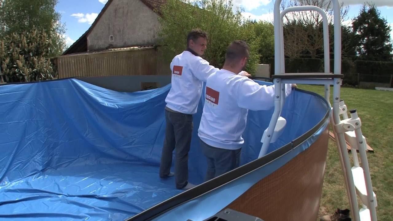 Installer une piscine hors-sol - Installation du liner (9/9)