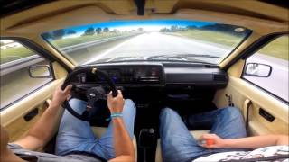 Golf 2 VR6 Turbo onboard | FLX_MNG