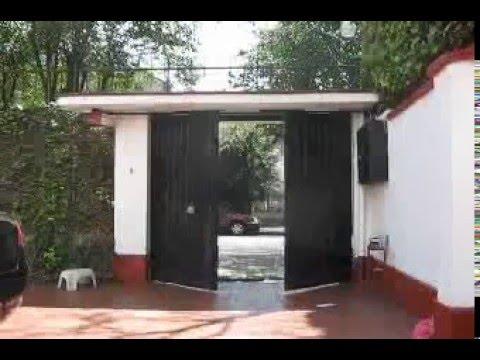 Puerta abatible hacia afuera con muro lateral youtube for Puertas que abren hacia afuera