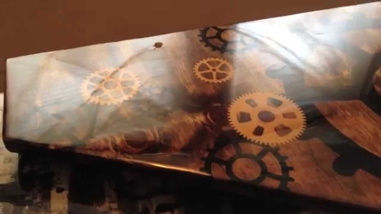 bathroom renovation with custom glazed wood vanity and vessel sink how to diy