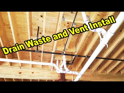 Drain Waste And Vent Line Installing (And Design!) | How To Plumbing