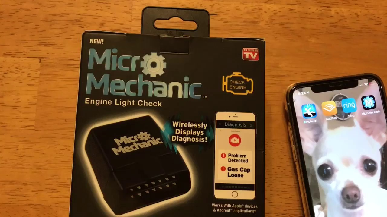 Micro Mechanic as seen on TV check why the engine light is on