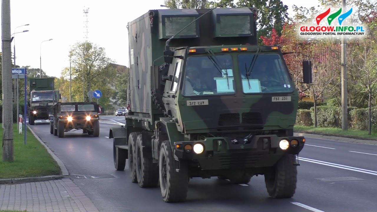 Transport wojsk amerykańskich przez  Głogów