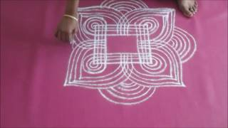 Tamil new year kolam designs - Festival kolam