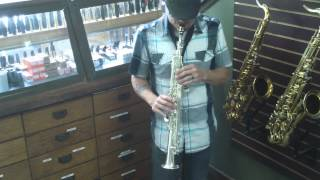 Silver Plated Selmer Paris Series III JUBILEE Soprano Sax - Serial # 762653