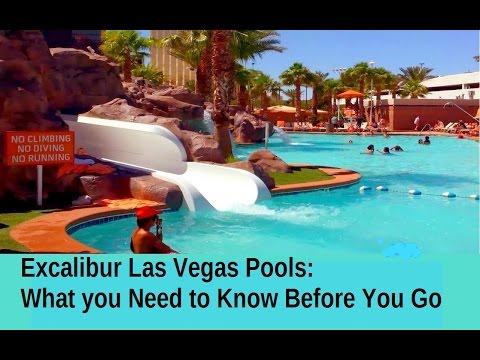 Excalibur hotel pool las vegas