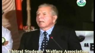 Shahzada Mohiuddin MNA Chitral (speech in Karachi part 1)