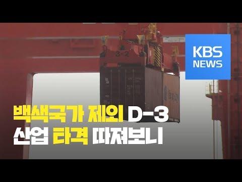 '백색국가 제외 임박'...우리 산업에 어떤 영향? / KBS뉴스(News)