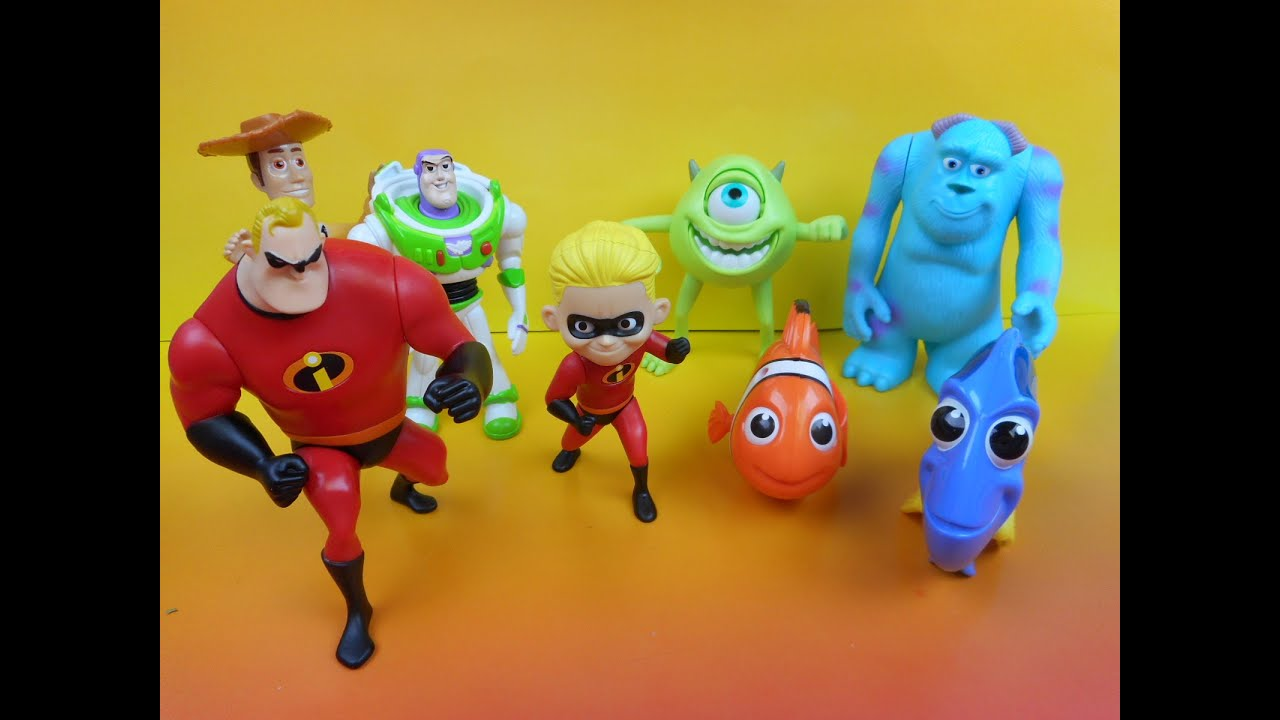 2005 Mcdonald S Disney Pixar Pals Set Of 8 Happy Meal Kid
