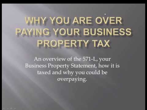 Webinar- Why you are being over assessed on your business property tax