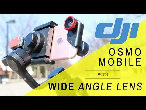 DJI Osmo Mobile with Wide Angle Lens and Stabilization Comparison