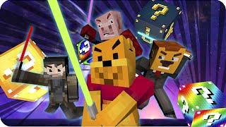 LUCKY BLOCKS DE LAS GALAXIAS! Sara, Exo, Gona y Luh en Minecraft