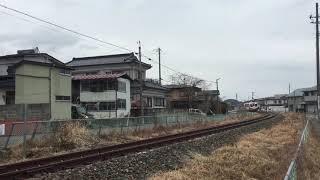 三陸鉄道リアス線(JR山田線)訓練列車(試運転)磯鶏駅付近にて