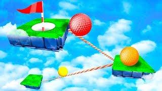 1 ПОПЫТКА, ЧТОБЫ ПОПАСТЬ ЛУНКУ! ЧУДОМ НЕ УПАЛИ ВНИЗ И ПРОШЛИ СЛОЖНУЮ ЛОВУШКУ В ГОЛЬФ ИТ (Golf It)