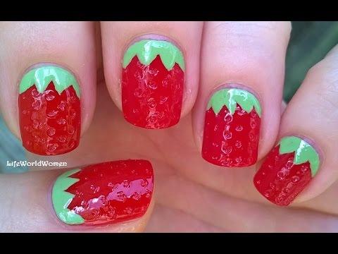 3d strawberry nail art tutorial easy fruit nails idea youtube 3d strawberry nail art tutorial easy fruit nails idea prinsesfo Gallery
