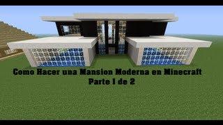 vuclip Como Hacer una Mansion Moderna en Minecraft parte 1