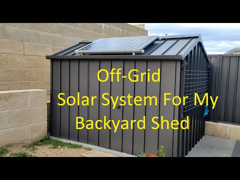 DIY Off-Grid System For My Shed
