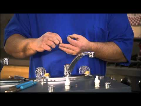 How do I replace the stem in my double handle faucet? Part 3 - YouTube