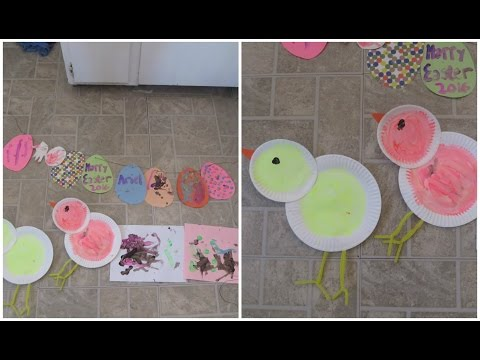 Easy Toddler Easter Arts and Crafts - COLLAB