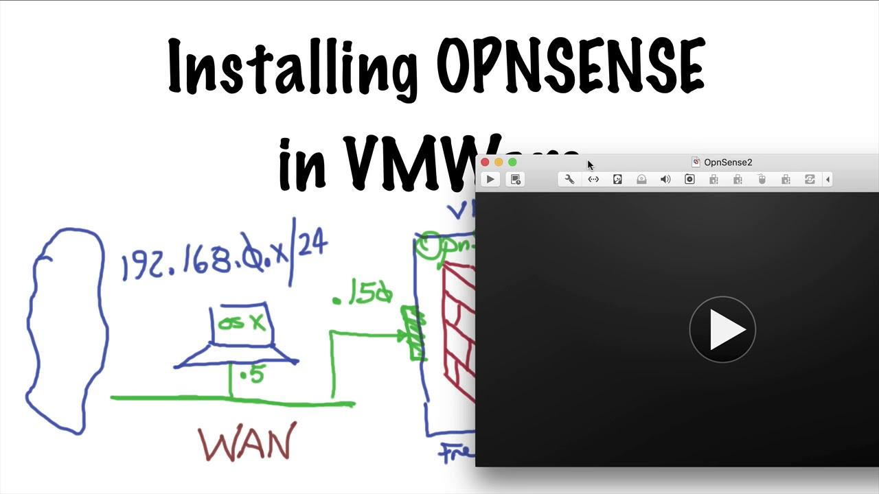 Install OPNsense in VMWare
