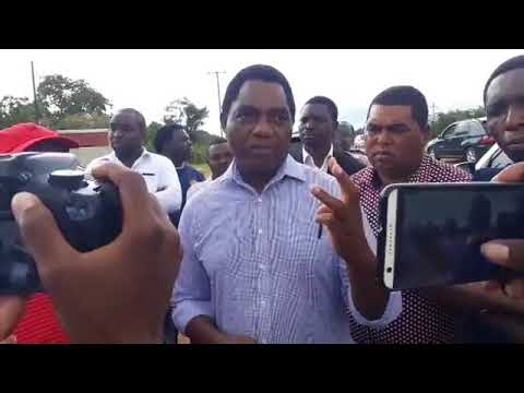 UPND Leader Hakainde Hichilema Commenting on Impeachment Motion