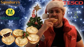 MINCED PIES CHRISTMAS 2018 TASTE TEST | Bradley Chlopas