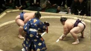 20120108 大相撲初場所 初日 豪風vs琴将菊 琴将菊初日黒星です.