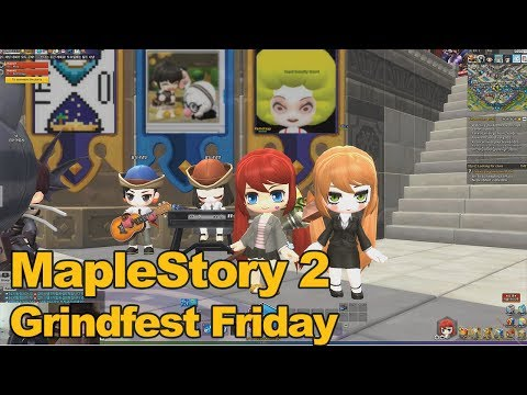 MapleStory 2 Gameplay Grindfest Friday - MMOs.com