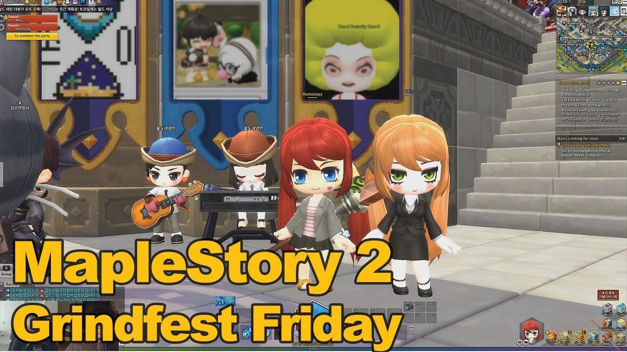 MapleStory 2 Gameplay Grindfest Friday  MMOscom  YouTube