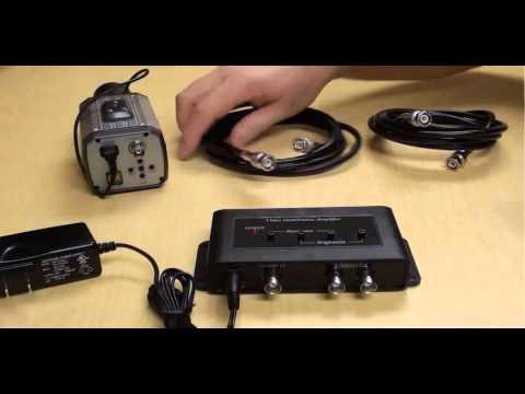 BNC Amp and CCTV Video Splitter