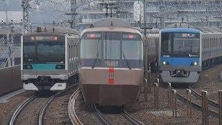朝の小田急小田原線@狛江駅
