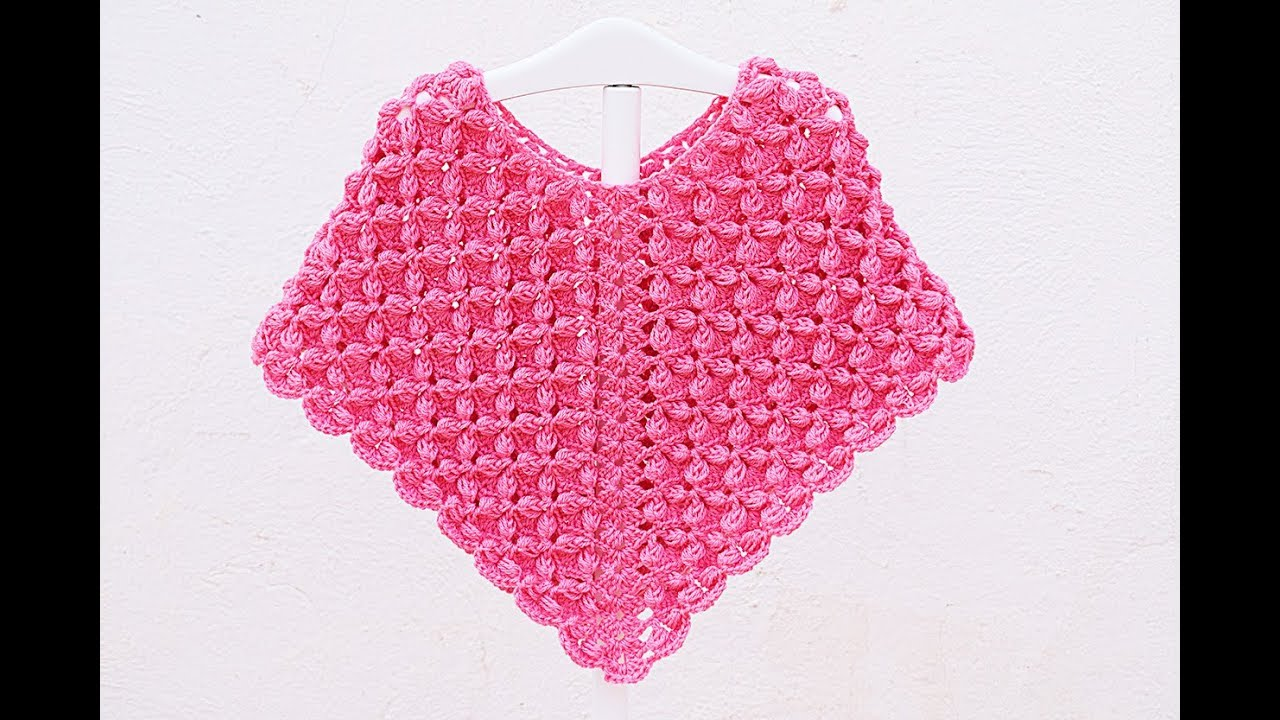 Crochet girl poncho very easy #crochet