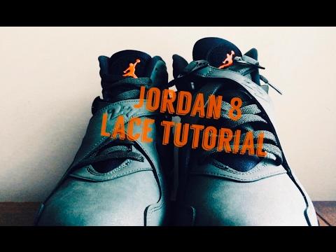 1da71e20791 Air Jordan 8 Lace Tutorial w/ Take Flight 8s   How To Lace Jordan 8s   On  Foot