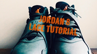 Air Jordan 8 Lace Tutorial w/ Take Flight 8s | How To Lace Jordan 8s | On Foot