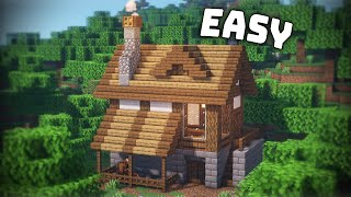 Minecraft: How to Build a House Tutorial [EASY] #DeerBuild
