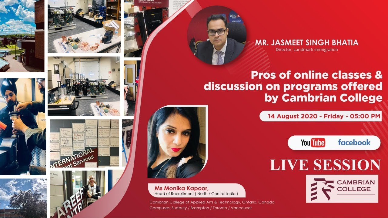 Live Session Ms Monika Kapoor Head Recruitment Cambrian College Of Applied Arts Technology Youtube