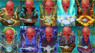All Plants Max Level Up System Vs All 10 Zomboss Battles  in Plants vs Zombies 2:Gameplay 2017