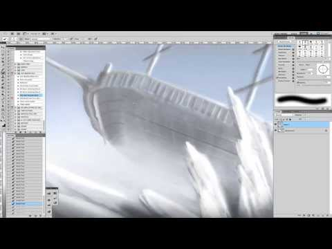 Shipwreck Speed Painting Part 1