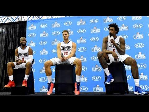 Los Angeles Clippers 2016 Media Day. Chris Paul, Blake Griffin, DeAndre Jordan. HoopJab NBA