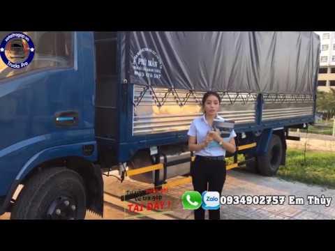 Xe tải VEAM 1 tấn 9 thùng dài 6m1 vào thành phố ban ngày | Gía xe tải VEAM - YouTube