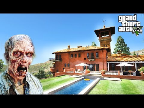 SAVING MY MANSION FROM ZOMBIES!!! GTA V ZOMBIE INFECTION MOD