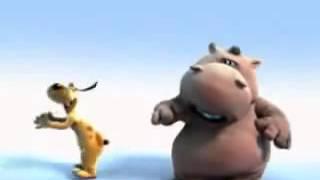 Мультфильм HIPPO SONG Бегемот поет  Песня бегемотика